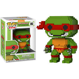 FIGURA POP 8-BIT TEENAGE MUTANT NINJA TURTLES RAPHAEL 9 CM