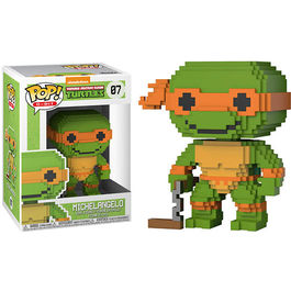 FIGURA POP 8-BIT TEENAGE MUTANT NINJA TURTLES MICHELANGELO 9 CM