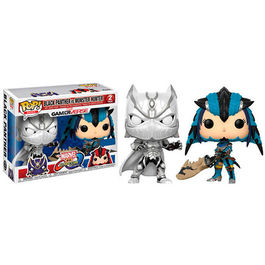PACK FIGURAS POP MARVEL VS CAPCOM BLACK PANTHER VS MONSTER HUNTER EXCLUSIVE 9 CM