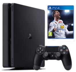 CONSOLA PS4 SLIM 500 GB + FIFA 18 PS4