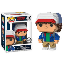 FIGURA POP 8-BIT STRANGER THINGS DUSTIN EXCLUSIVE 9 CM