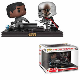 PACK FIGURAS POP MOVIE MOMENTS STAR WARS THE LAST JEDI REMATCH ON THE SUPREMACY 9 CM
