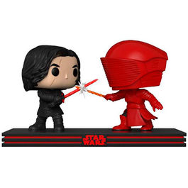 PACK FIGURAS POP MOVIE MOMENTS STAR WARS THE LAST JEDI KYLO AND PRAETORIAN GUARD 9 CM