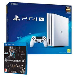CONSOLA PS4 PRO 1 TB BLANCA + MORTAL KOMBAT XL PS4
