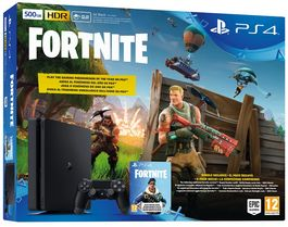 CONSOLA PS4 SLIM 500 GB + VOUCHER FORTNITE PS4
