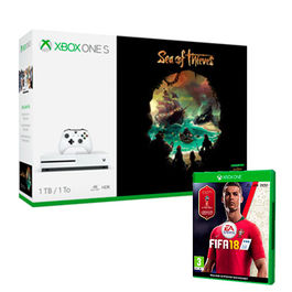 CONSOLA XBOX ONE S 1 TB + SEA OF THIEVES + FIFA 18 XBOX ONE