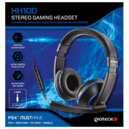 AURICULARES HEADSET GIOTECK STEREO XH100 AZUL PS4-XBOX ONE-PC