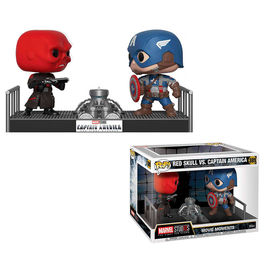 PACK FIGURAS MARVEL RED SKULL VS CAPTAIN AMERICA 9 CM