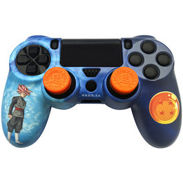 CARCASA PROTECTORA + GRIPS + PEGATINA DRAGON BALL TRUNKS PS4