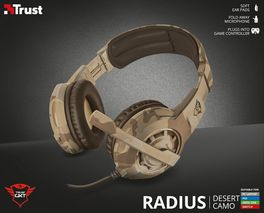 AURICULARES HEADSET TRUST CARUS GAMING DESERT CAMO GXT 310D PS4 - XBOX ONE - SWITCH - PC