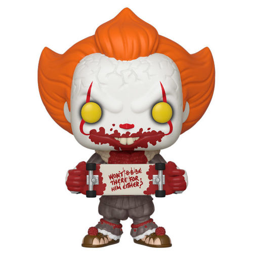 FIGURA POP IT CHAPTER 2 PENNYWISE WITH SKATEBOARD 9 CM