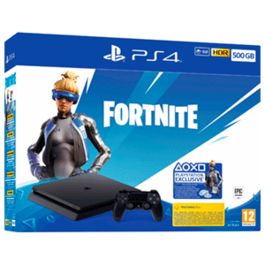CONSOLA PS4 SLIM 500 GB + FORTNITE PACK PS4