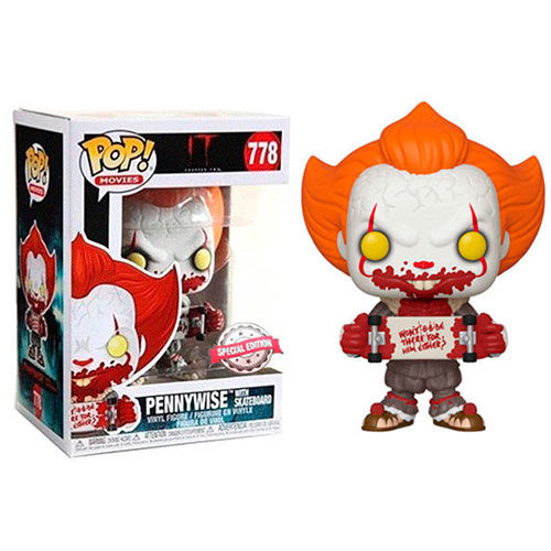FIGURA POP IT CHAPTER 2 PENNYWISE WITH SKATBOARD 9 CM
