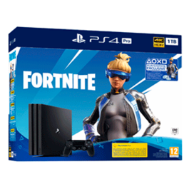 CONSOLA PS4 PRO 1TB + PACK FORTNITE