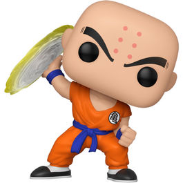 FIGURA POP DRAGON BALL Z KRILLIN WITH DESTRUCTO DISC 9 CM