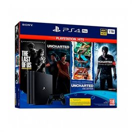 CONSOLA PS4 PRO 1TB + PACK UNCHARTED SAGA + THE LAST OF US PS4