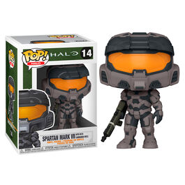 FIGURA POP HALO INFINITE MARK VII GREY WITH COMMANDO RIFLE 9 CM