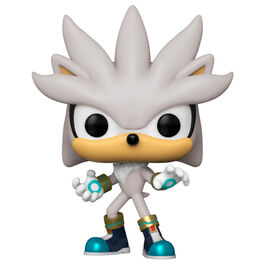 FIGURA POP SONIC 30TH SILVER THE HEDGEHOG 9 CM