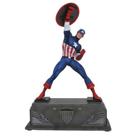 FIGURA MARVEL GALLERY CAPITAN AMERICA BASE 30 CM