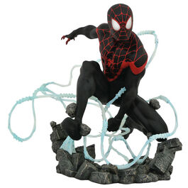 FIGURA MARVEL GALLERY SPIDERMAN MILES MORALES TELARAÑA PREMIER COLLECTION 23 CM