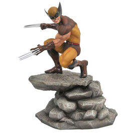 FIGURA MARVEL GALLERY LOBEZNO WOLVERINE BROWN 23 CM