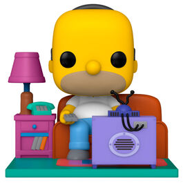 FIGURA POP LOS SIMPSON HOMER WATCHING TV 18 CM